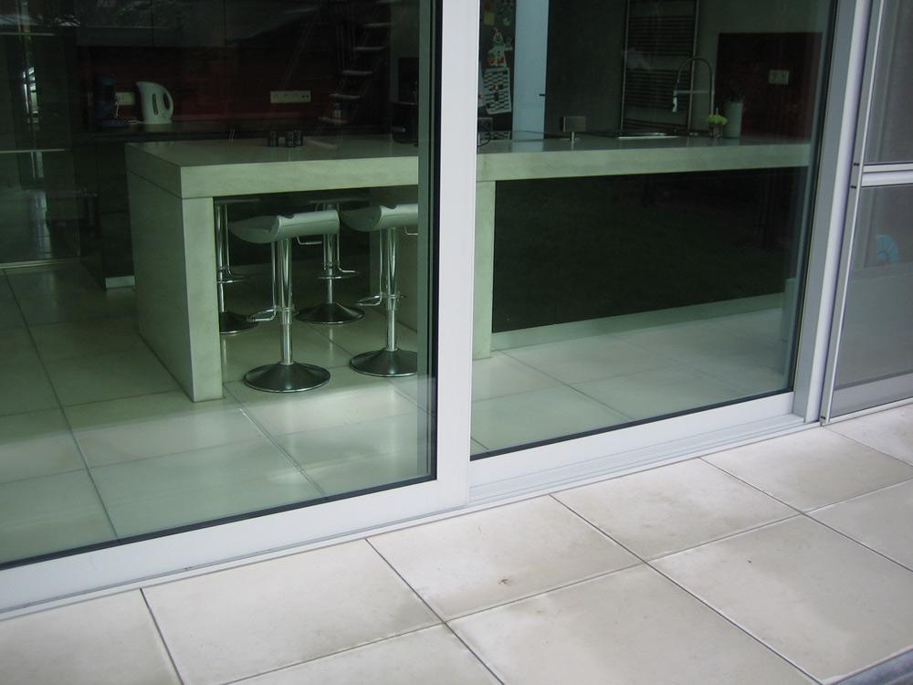 betontegels keuken en terras